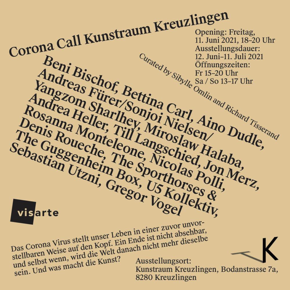 Zweite Ausstellung<br>Corona Call