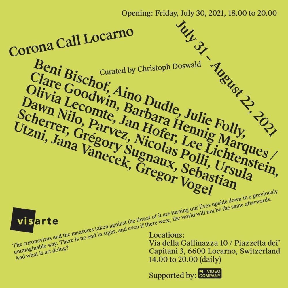 Corona Call<br>Ausstellung in Locarno